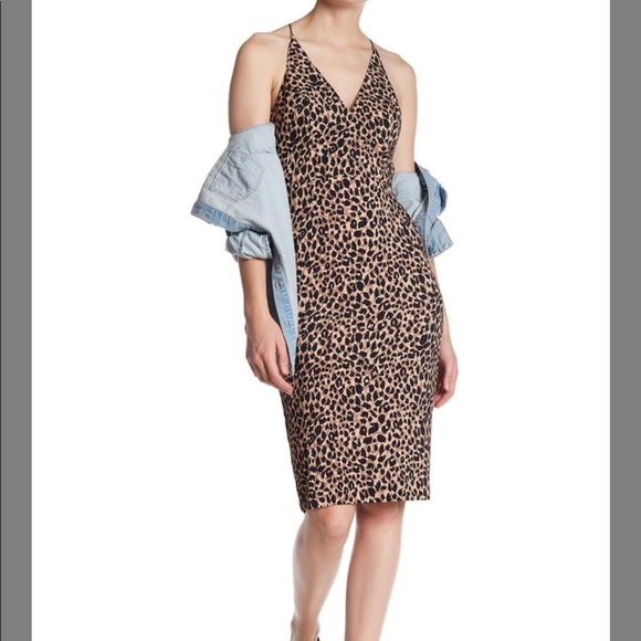 aefaa4611db6 Topshop Dresses | Leopard Spaghetti Strap Sheath Midi Dress | Poshmark